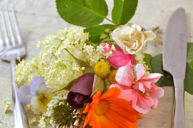 Flores para decorar, flores para comer